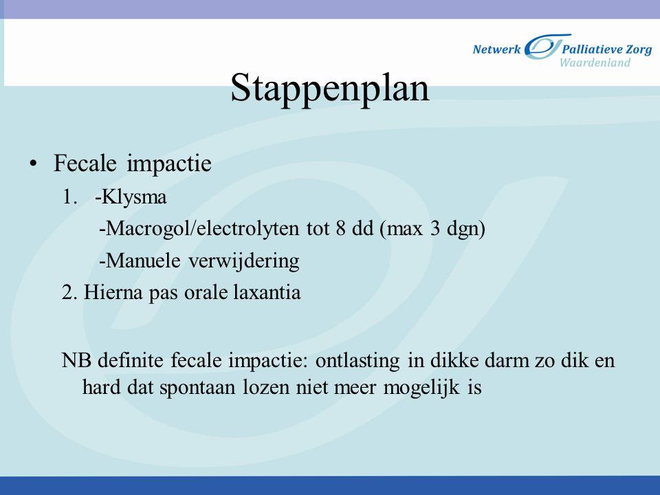 Stappenplan Fecale impactie 1. -Klysma