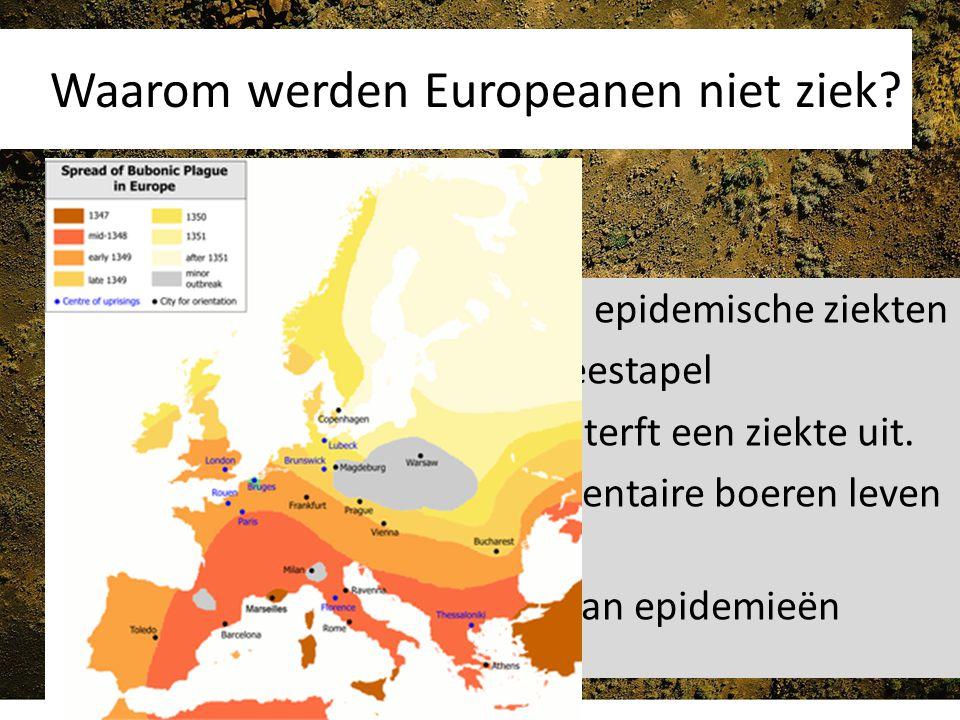 Waarom werden Europeanen niet ziek