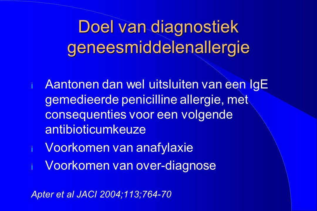 Doel van diagnostiek geneesmiddelenallergie