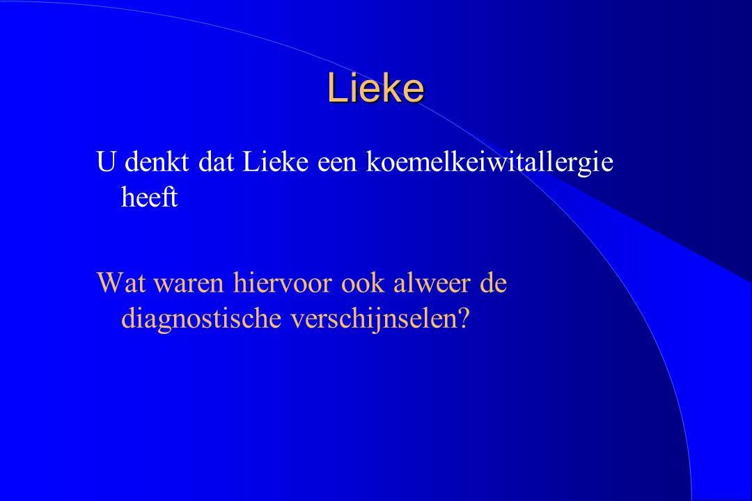 Lieke U denkt dat Lieke een koemelkeiwitallergie heeft