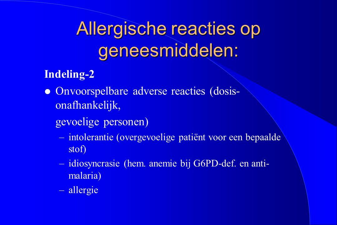 Allergische reacties op geneesmiddelen: