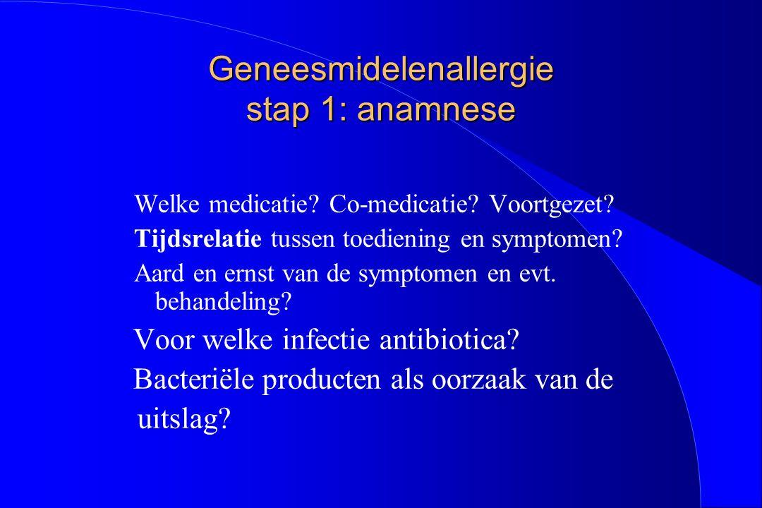 Geneesmidelenallergie stap 1: anamnese