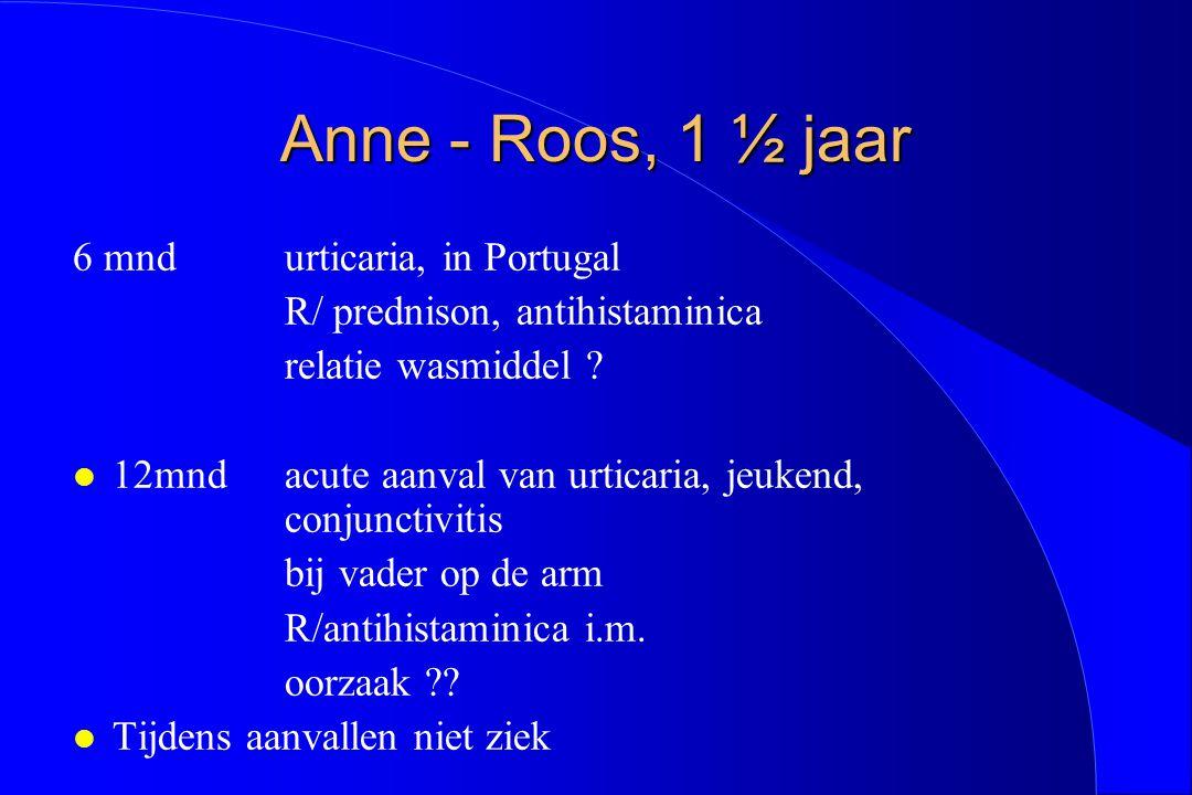 Anne - Roos, 1 ½ jaar 6 mnd urticaria, in Portugal
