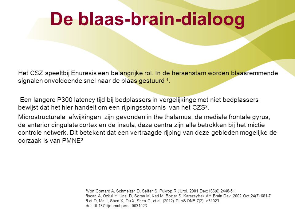 De blaas-brain-dialoog
