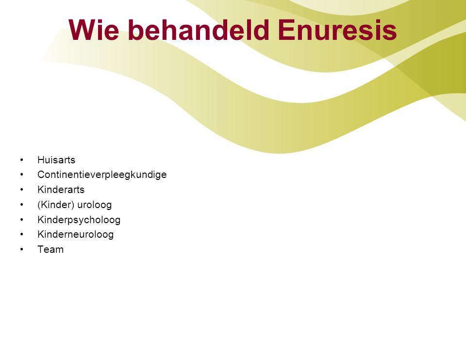 Wie behandeld Enuresis
