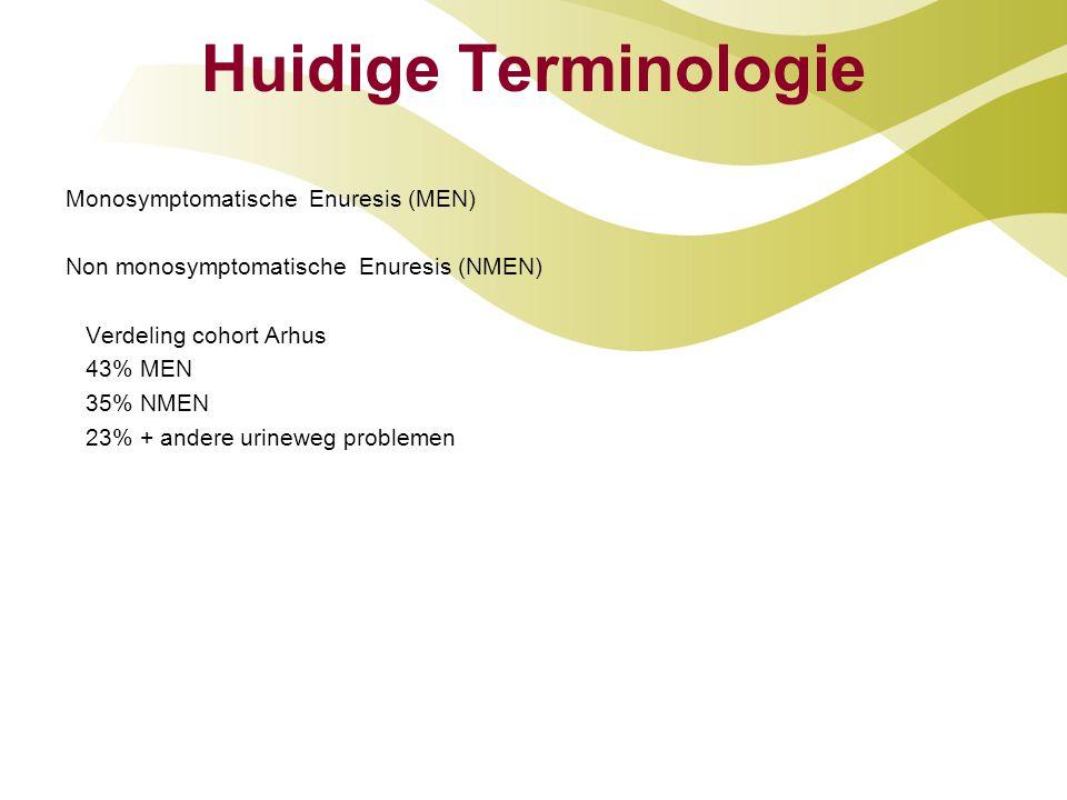 Huidige Terminologie Monosymptomatische Enuresis (MEN)