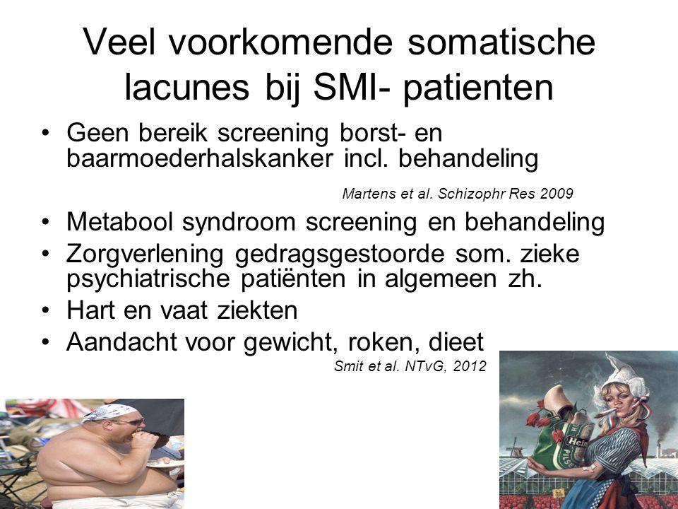 Veel voorkomende somatische lacunes bij SMI- patienten