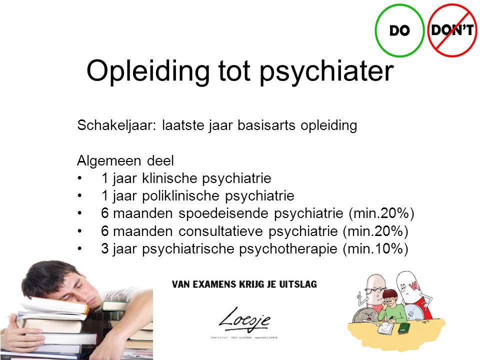 Opleiding tot psychiater