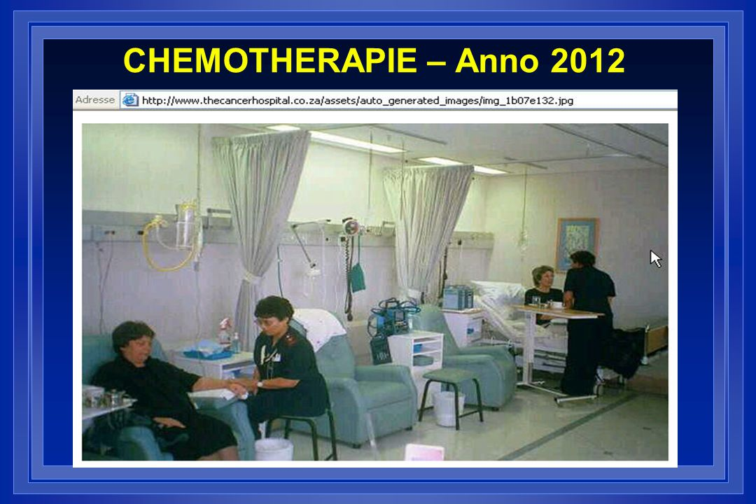 CHEMOTHERAPIE – Anno 2012