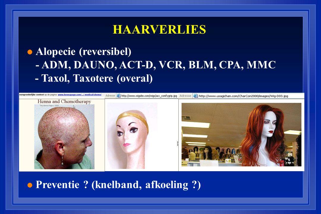 HAARVERLIES Alopecie (reversibel)