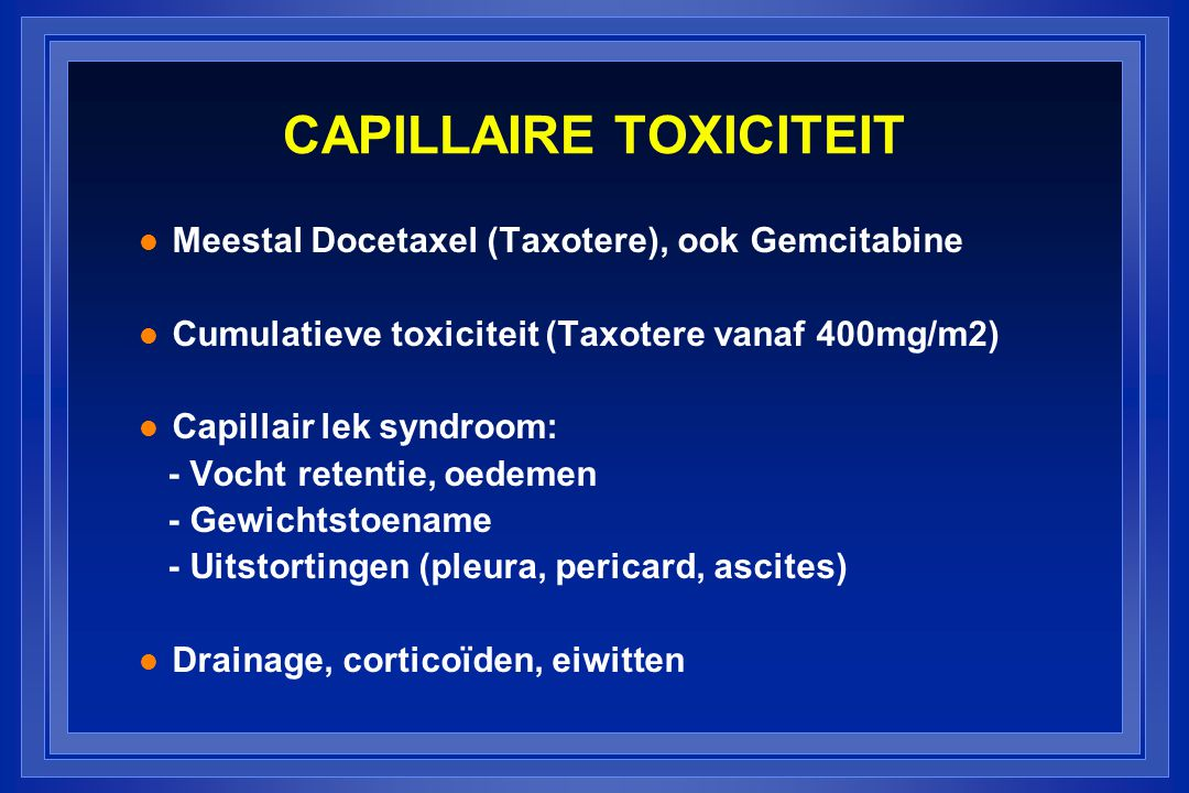 CAPILLAIRE TOXICITEIT
