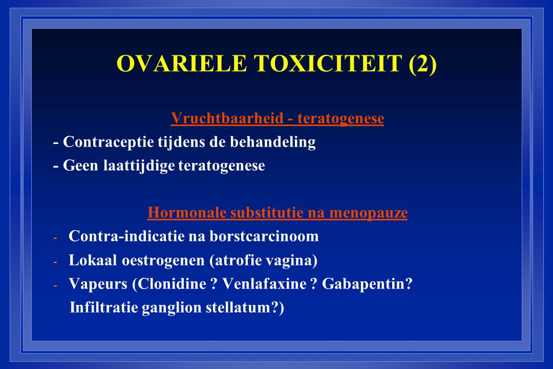 OVARIELE TOXICITEIT (2)