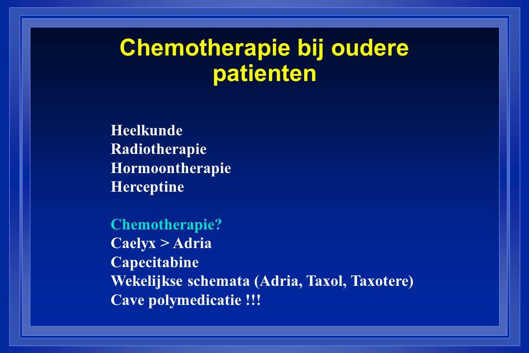 Chemotherapie bij oudere patienten