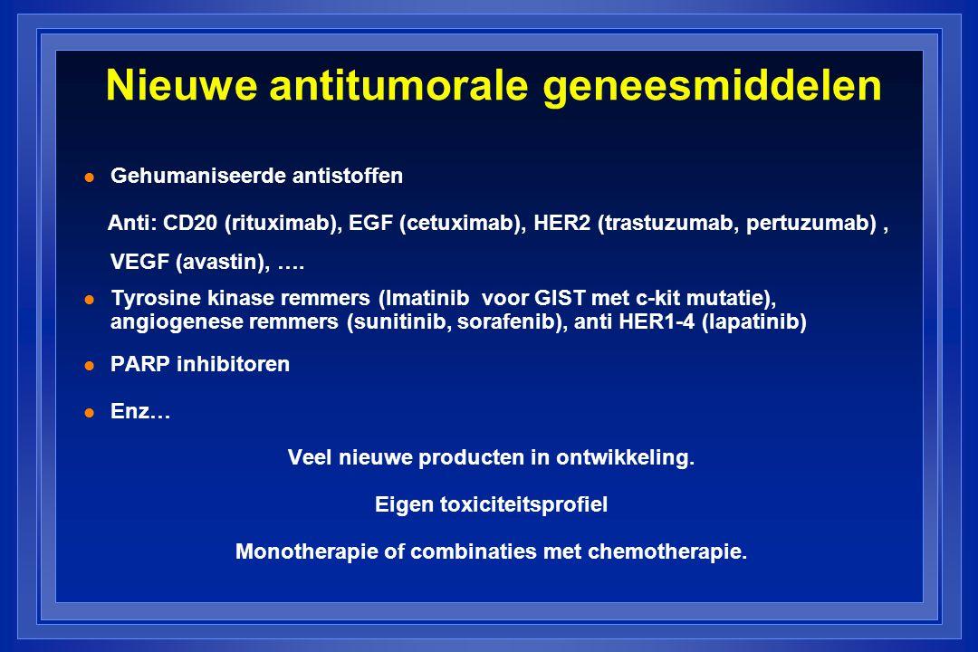 Nieuwe antitumorale geneesmiddelen