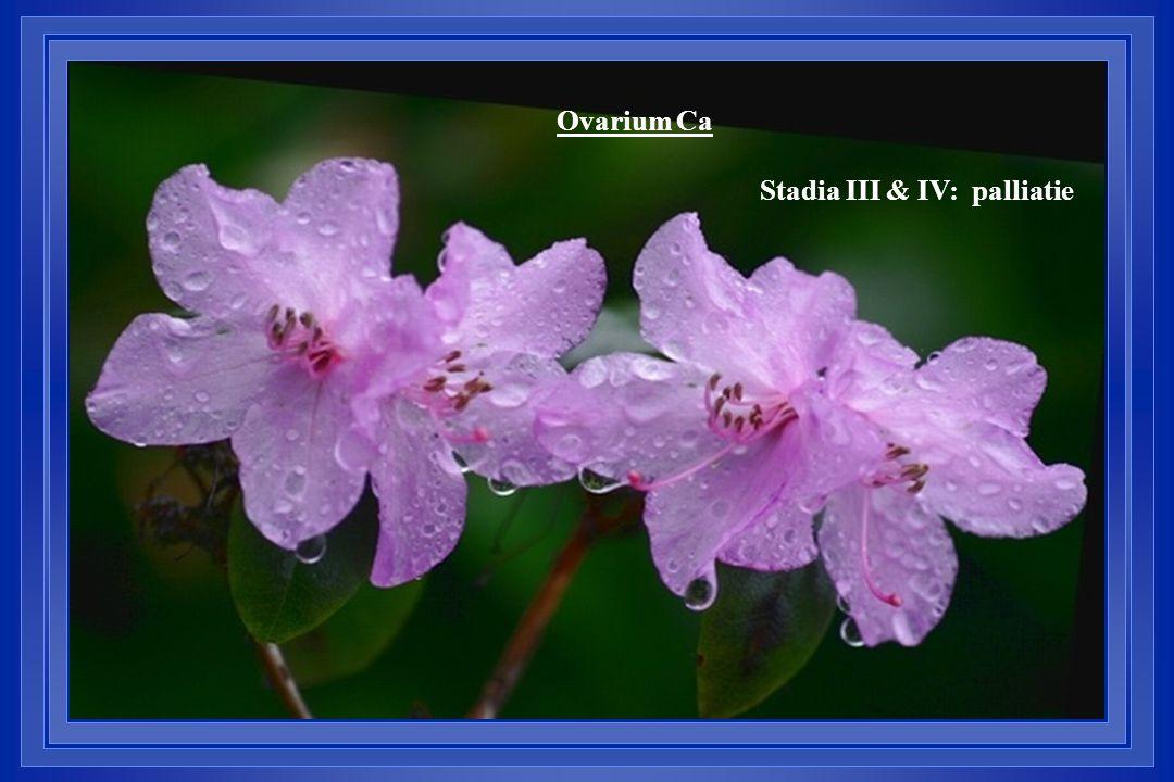 Ovarium Ca Stadia III & IV: palliatie