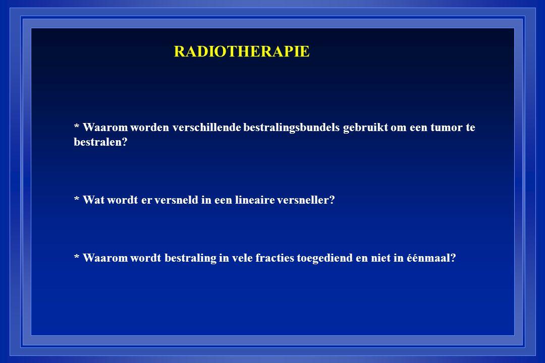 RADIOTHERAPIE * Waarom worden verschillende bestralingsbundels gebruikt om een tumor te bestralen