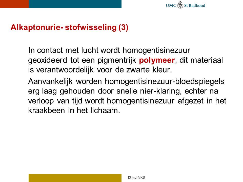 Alkaptonurie- stofwisseling (3)