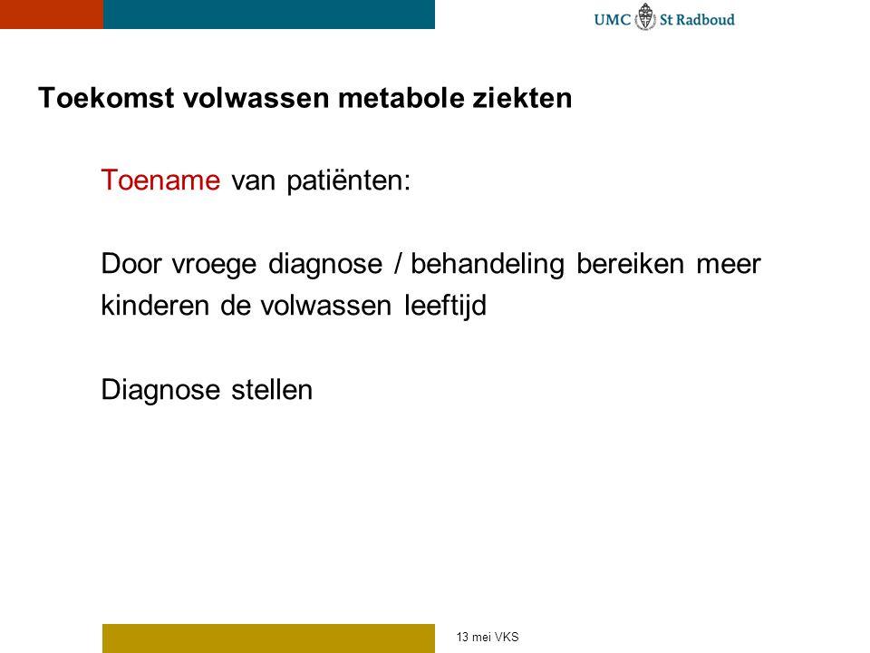 Toekomst volwassen metabole ziekten