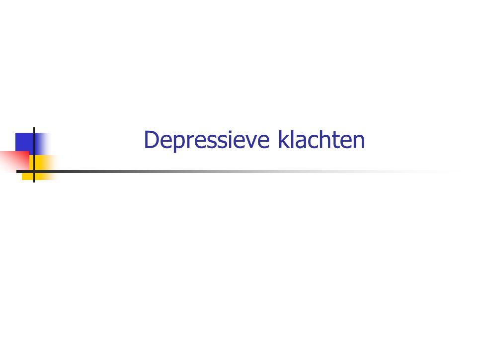 Depressieve klachten