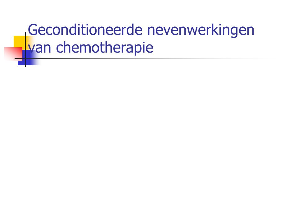 Geconditioneerde nevenwerkingen van chemotherapie