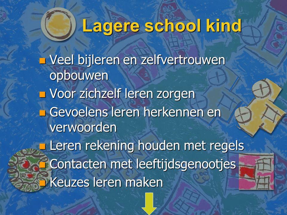 Lagere school kind Veel bijleren en zelfvertrouwen opbouwen