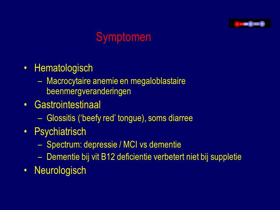 Symptomen Hematologisch Gastrointestinaal Psychiatrisch Neurologisch