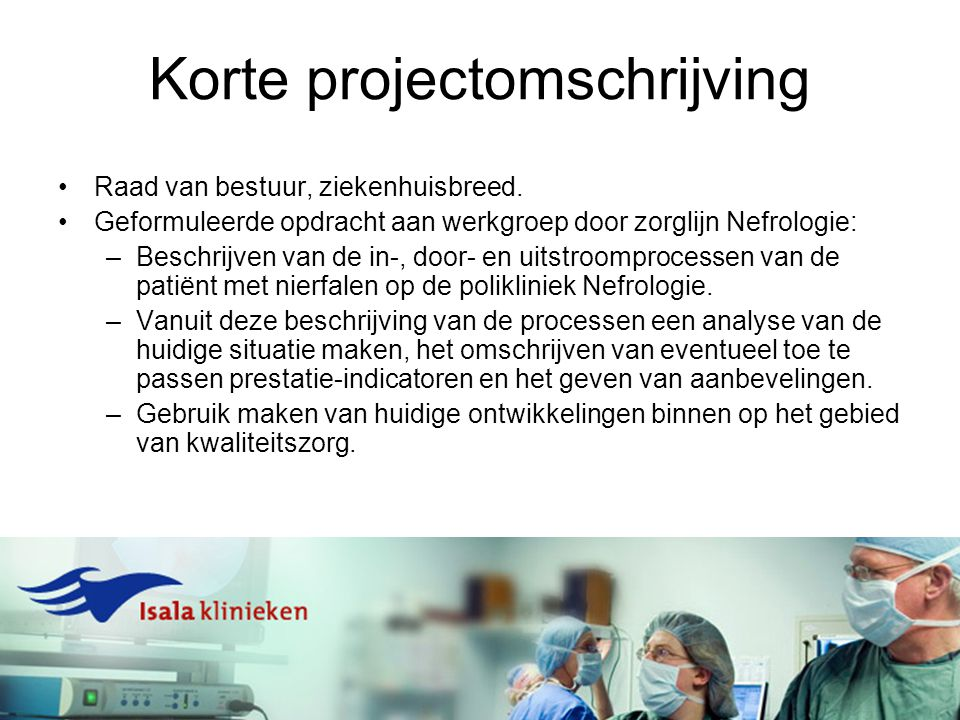 Korte projectomschrijving