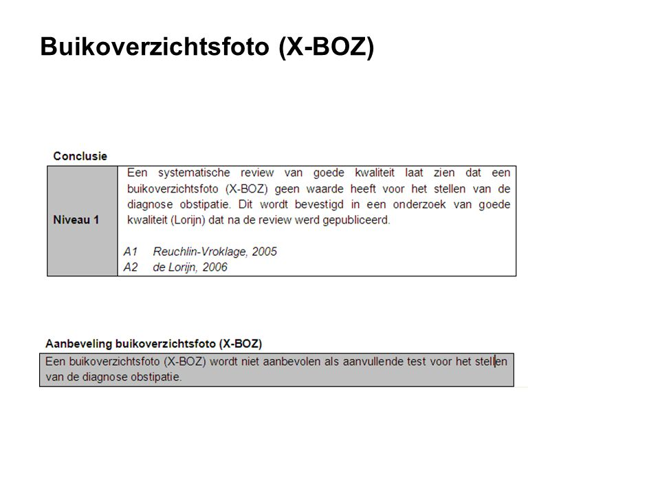 Buikoverzichtsfoto (X-BOZ)