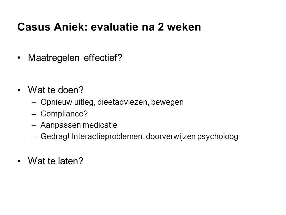 Casus Aniek: evaluatie na 2 weken