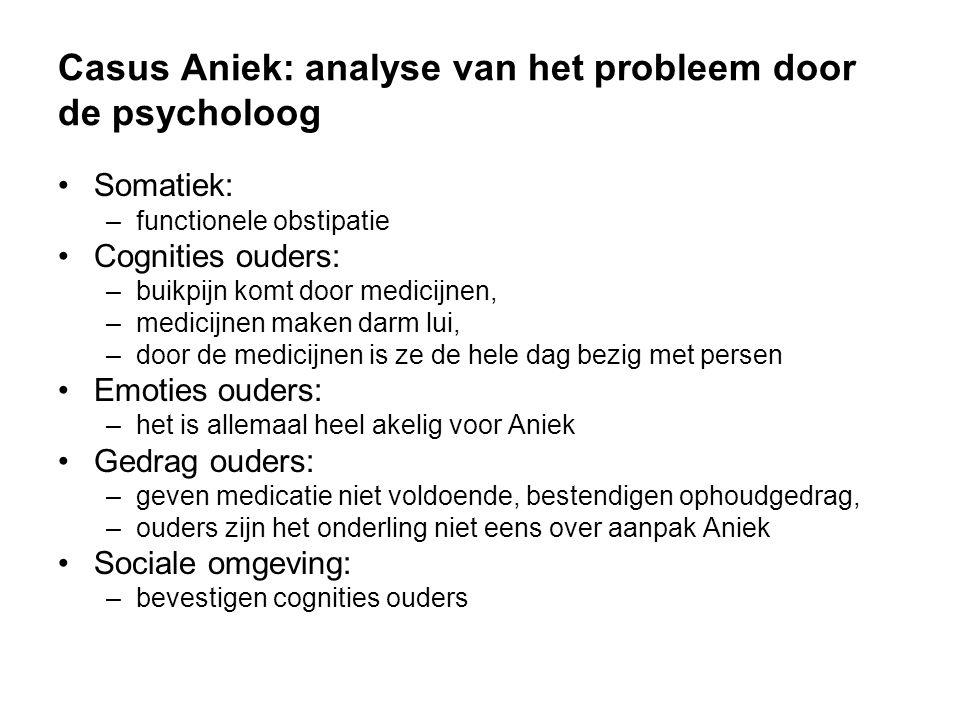 Casus Aniek: analyse van het probleem door de psycholoog