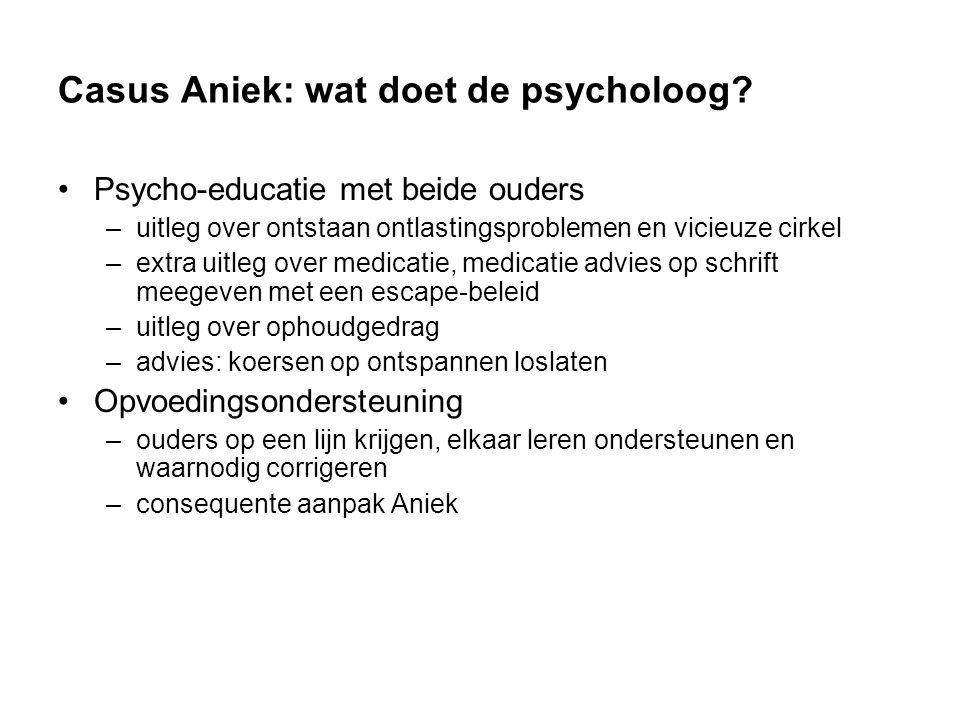 Casus Aniek: wat doet de psycholoog