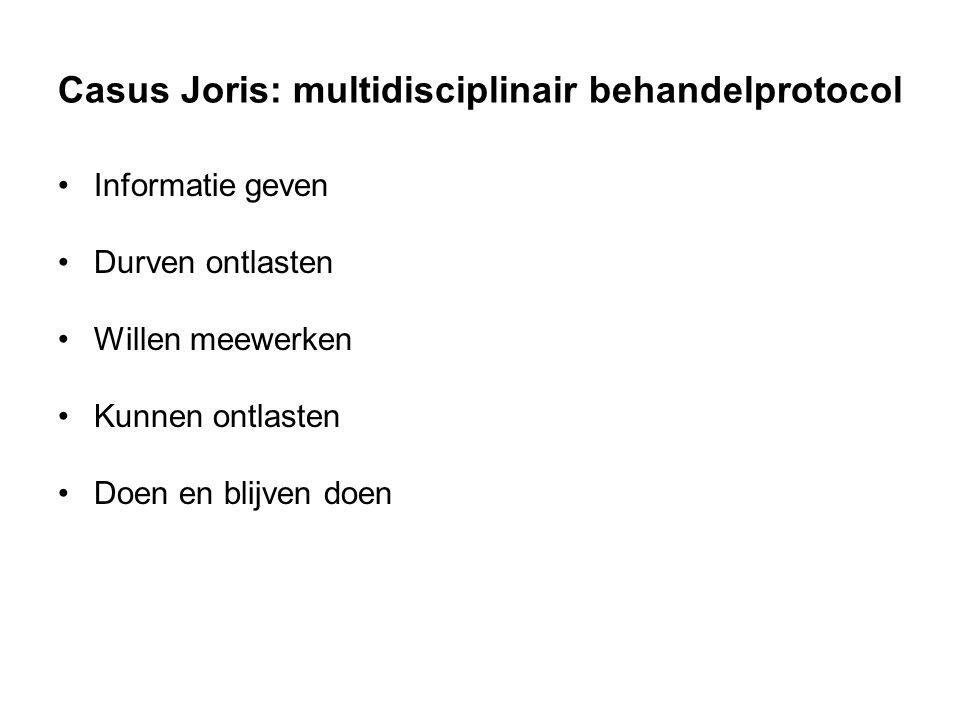 Casus Joris: multidisciplinair behandelprotocol