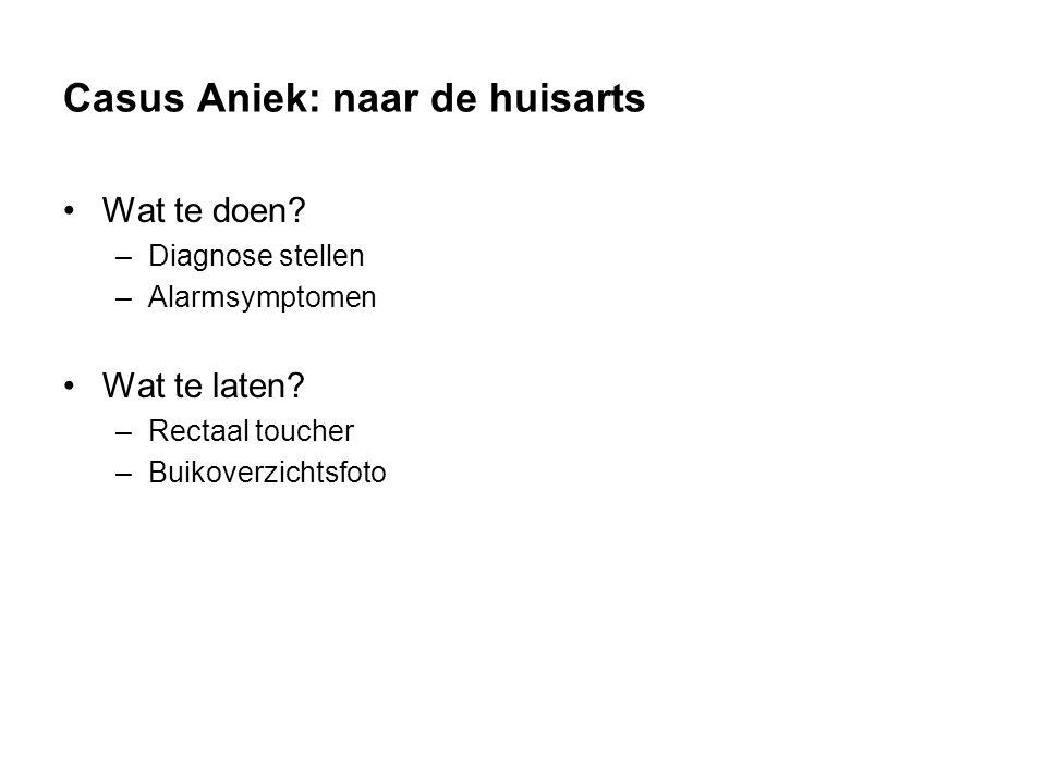 Casus Aniek: naar de huisarts