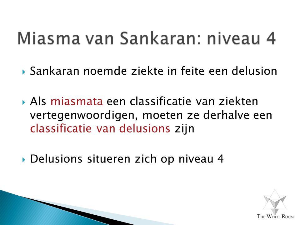 Sankaran noemde ziekte in feite een delusion