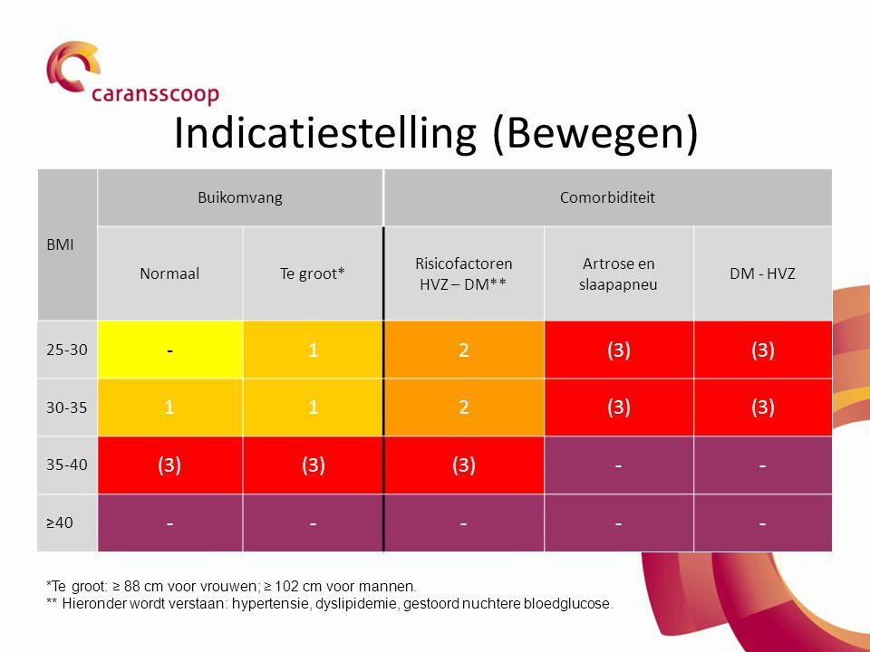 Indicatiestelling (Bewegen)