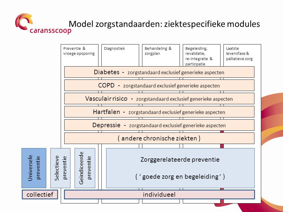 Model zorgstandaarden: ziektespecifieke modules