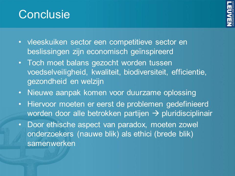 Conclusie vleeskuiken sector een competitieve sector en beslissingen zijn economisch geïnspireerd.