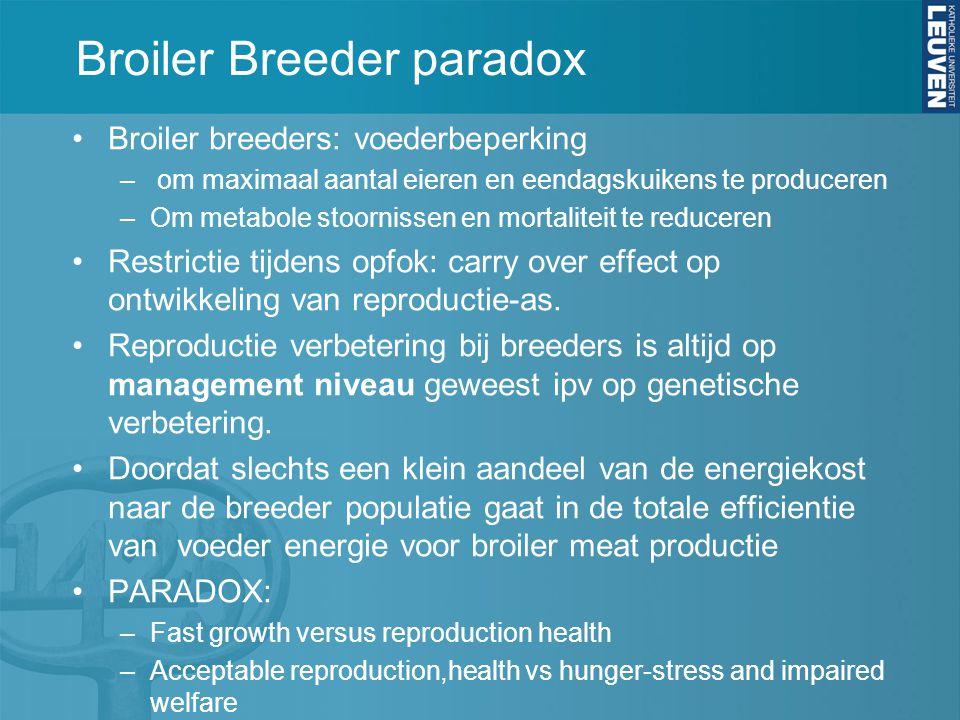 Broiler Breeder paradox