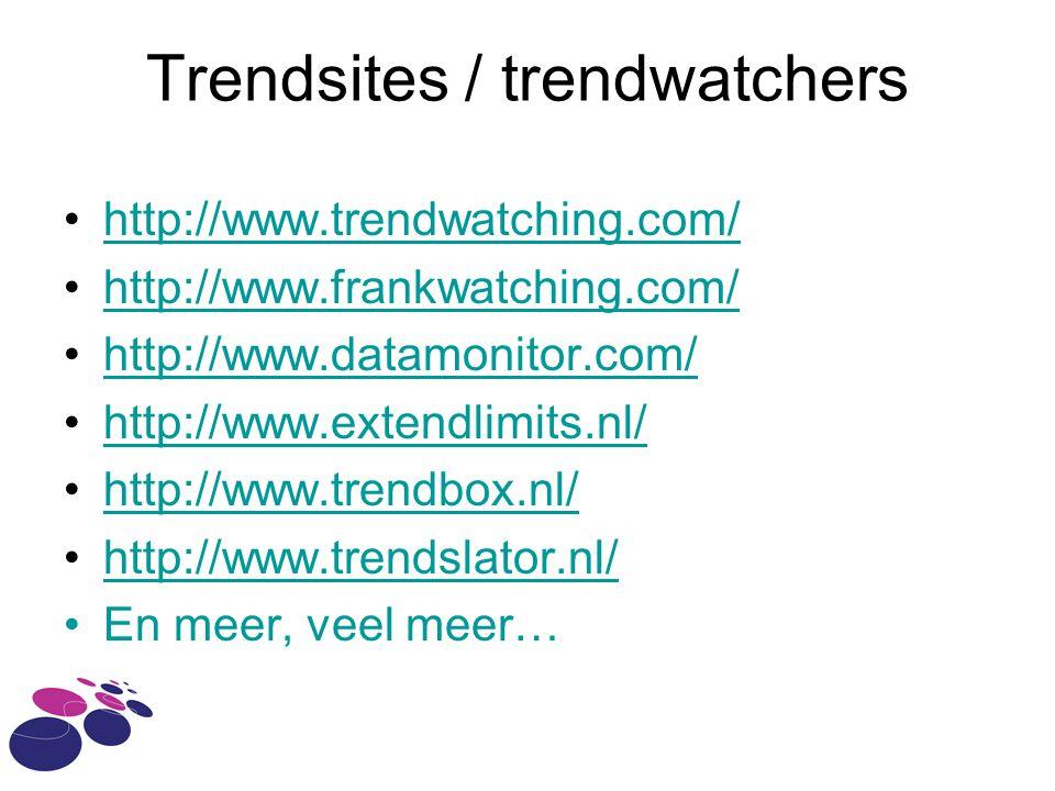 Trendsites / trendwatchers