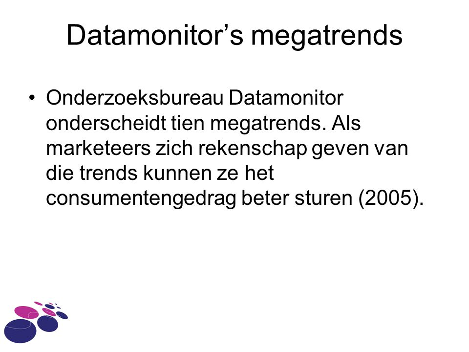 Datamonitor's megatrends