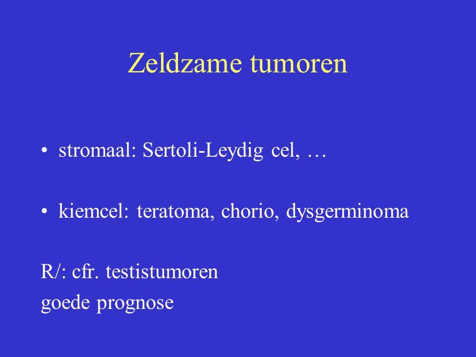 Zeldzame tumoren stromaal: Sertoli-Leydig cel, …