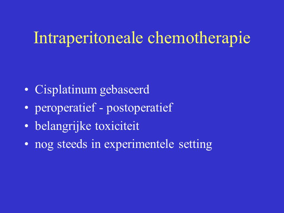 Intraperitoneale chemotherapie