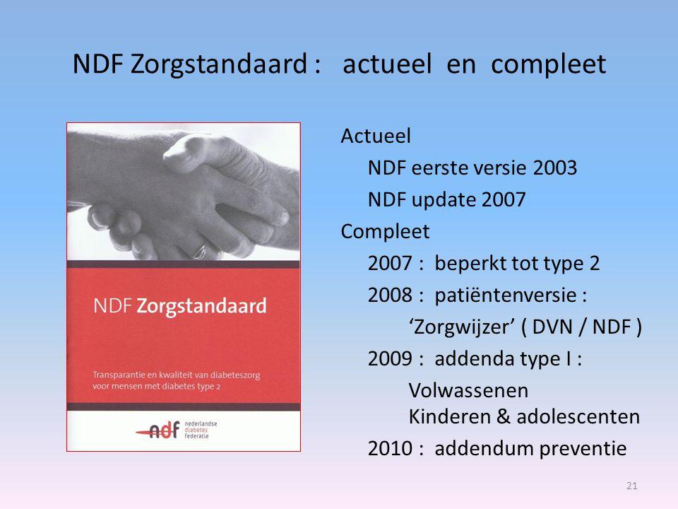 NDF Zorgstandaard : actueel en compleet