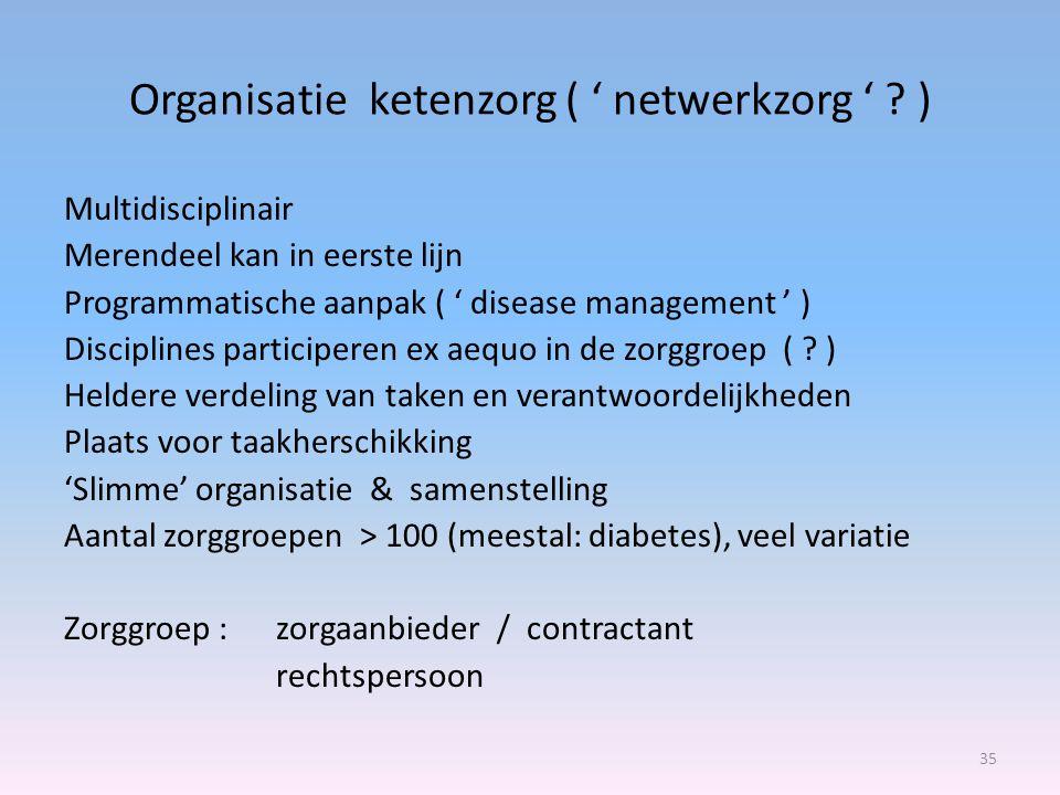 Organisatie ketenzorg ( ' netwerkzorg ' )
