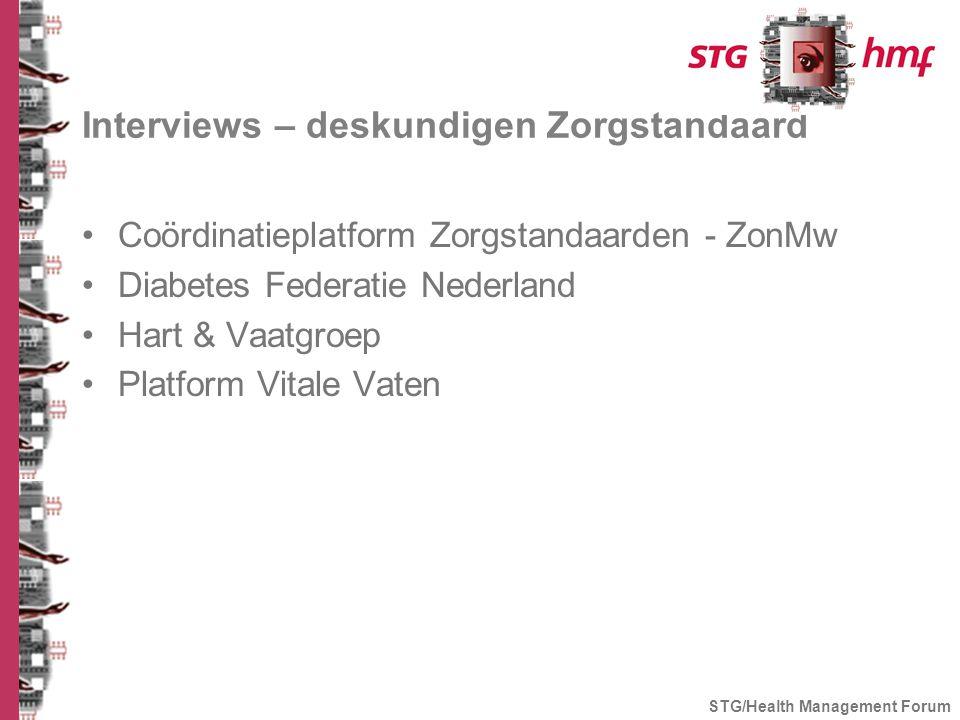 Interviews – deskundigen Zorgstandaard