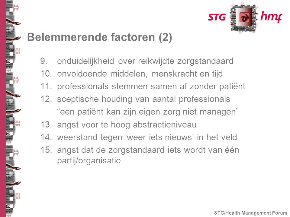 Belemmerende factoren (2)