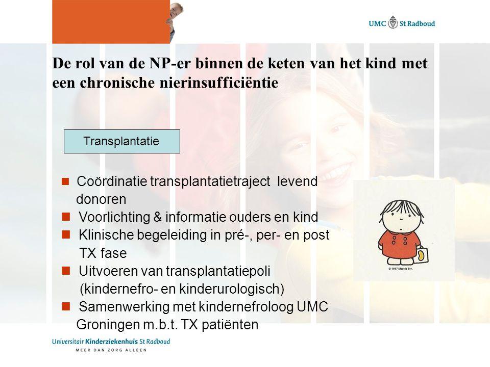 De rol van de NP-er binnen de keten van het kind met een chronische nierinsufficiëntie