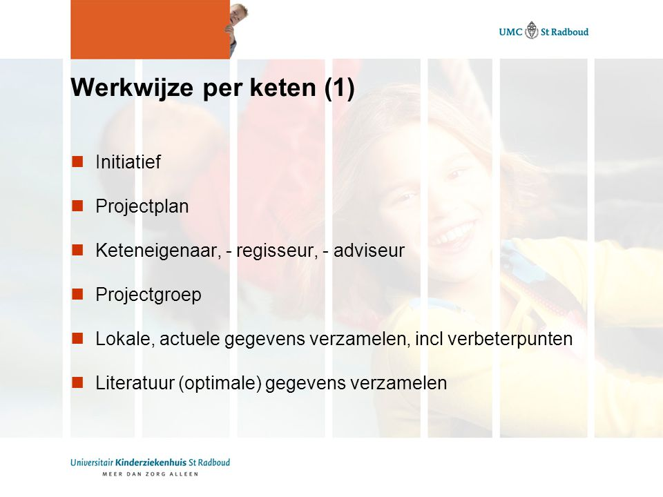 Werkwijze per keten (1) Initiatief Projectplan
