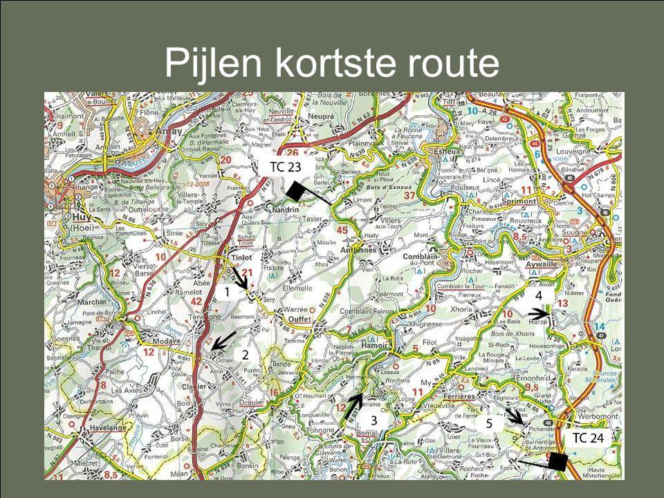 Pijlen kortste route