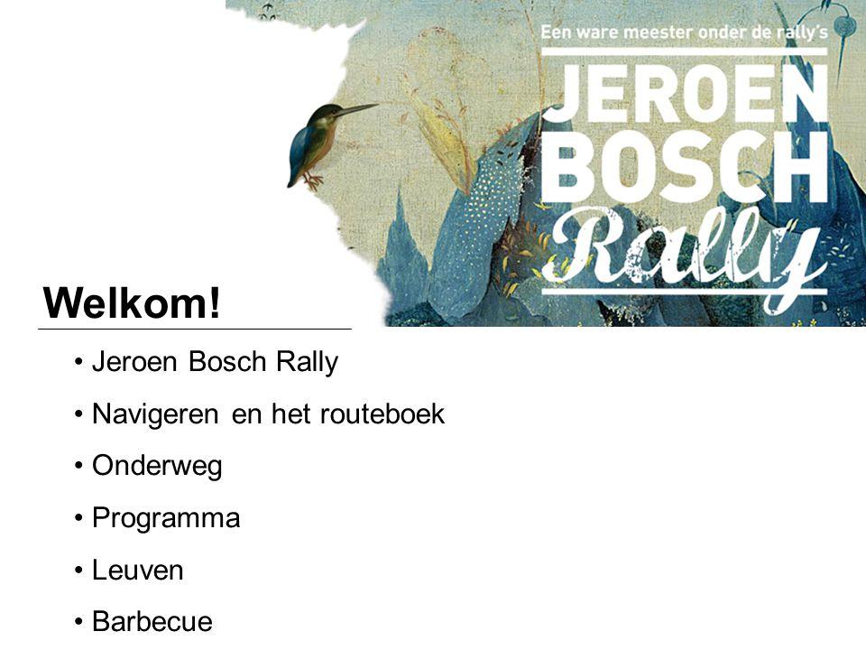 Welkom! Jeroen Bosch Rally Navigeren en het routeboek Onderweg